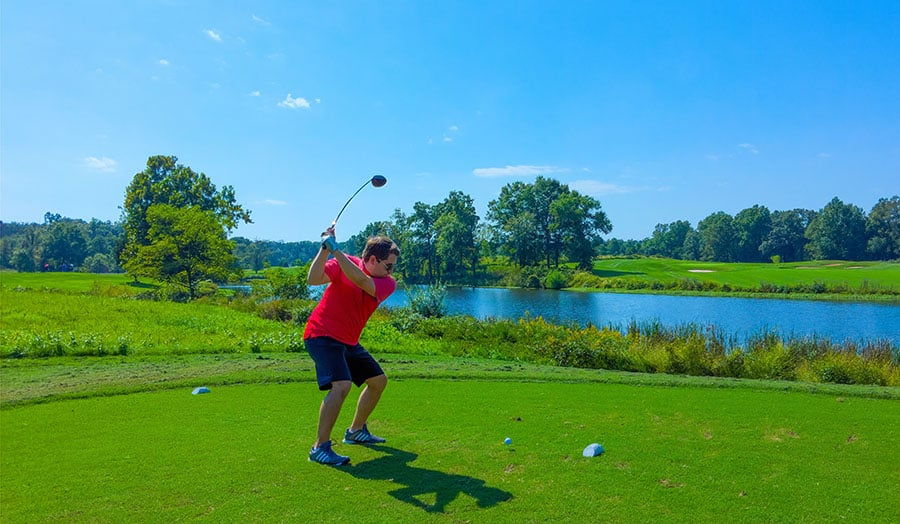 Making new friends abroad - golfing