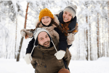 Moving to Sweden - Family in the snow