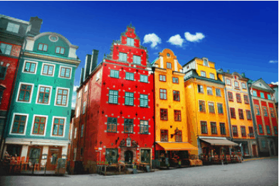 Moving to Sweden - Colourful buildings